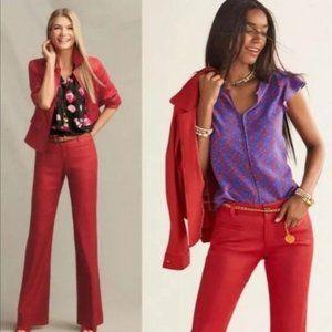 Cabi #5503 Red Valentine Trouser Pants Sz 10 Long